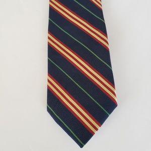 J. CREW Mens Tie Classic Width Striped EBM461